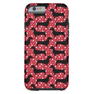 Dachsund van de polka tough iPhone 6 hoesje