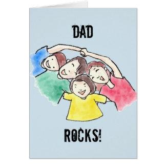 DAD het Vaderdag van ROTSEN Wenskaart