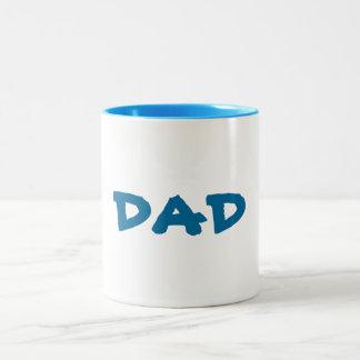 DAD père van de SJABLOON U kan de stijl van de Tweekleurige Koffiemok