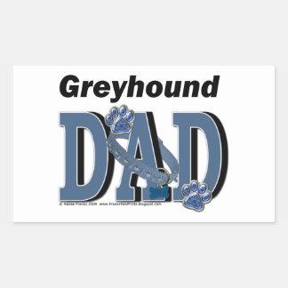 DAD van de windhond Rechthoekvormige Stickers