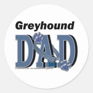 DAD van de windhond Ronde Stickers