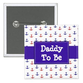 Daddyto is de Rode en Blauwe Knoop van het Baby Vierkante Button 5,1 Cm