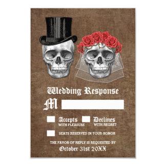 Dag van de Dode Kaarten van het Huwelijk RSVP van 8,9x12,7 Uitnodiging Kaart