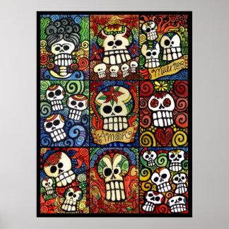 Dag van het Dode Collectie van de Schedels van de Poster
