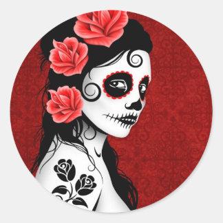 Dag van het Dode Meisje van de Schedel van de Ronde Sticker