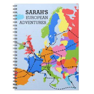 Dagboek van de Reis van de pret het Kleurrijke Ringband Notitieboek
