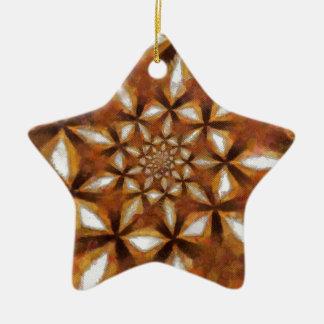 Dagen voorbij keramisch ster ornament
