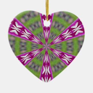 Dahlia Kaliediscope Keramisch Hart Ornament
