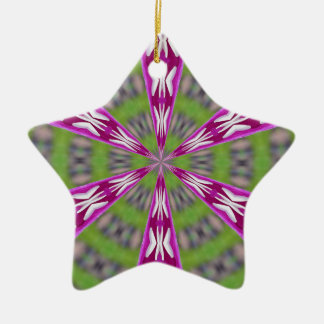 Dahlia Kaliediscope Keramisch Ster Ornament