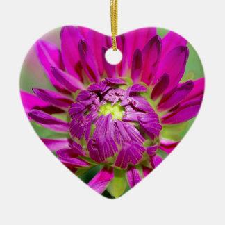 dahlia keramisch hart ornament