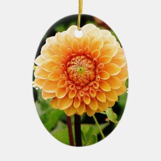 dahlia keramisch ovaal ornament