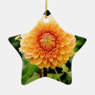 dahlia keramisch ster ornament