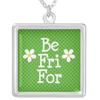 Daisy Best Friends Forever Necklace Ketting Vierkant Hangertje