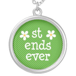 Daisy Best Friends Forever Necklace (st einden ooi Zilver Vergulden Ketting