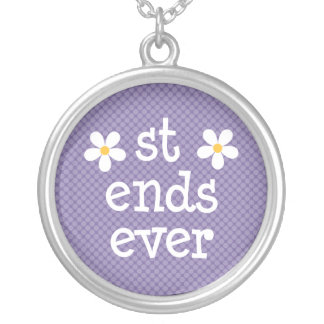 Daisy Best Friends Forever Paars Necklace Hangertjes