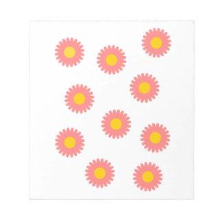 Daisy Flower Notepad Notitieblok