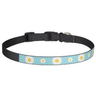 Daisy Flower Pattern Huisdier Halsbandje