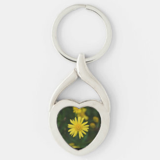 Daisy Heart Keychain