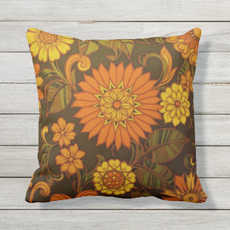 Daisy Orange Design Buitenkussen