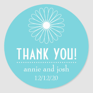 Daisy Outline Thank You Labels (Wintertaling)