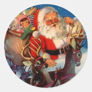 Dak van het Rendier van de Kerstman van Kerstmis Ronde Stickers