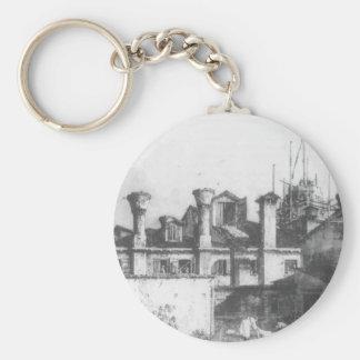 Daken en Schoorstenen in Venetië door Canaletto Basic Ronde Button Sleutelhanger