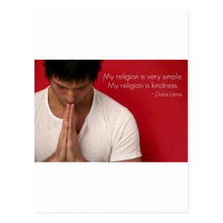 "Dalai Lama ""mijn godsdienst is vriendelijkheids"" Briefkaart"