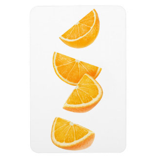 Dalende oranje stukken magneet