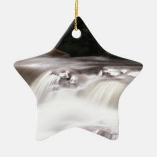 dalende waterstroom keramisch ster ornament