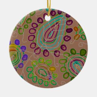 Dalingen Morphed 2 Rond Keramisch Ornament