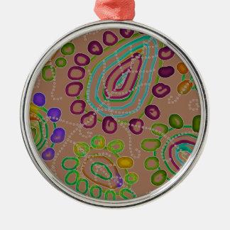 Dalingen Morphed 2 Zilverkleurig Rond Ornament