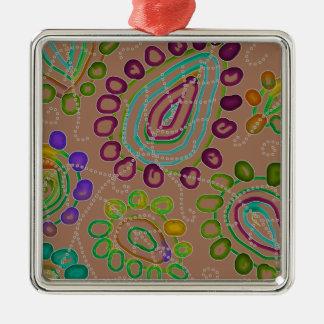 Dalingen Morphed 2 Zilverkleurig Vierkant Ornament
