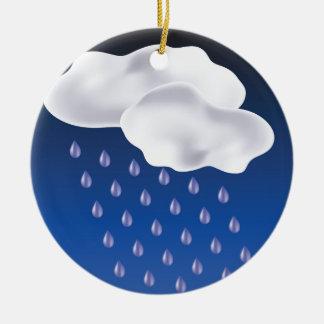 Dalingen van Regen Rond Keramisch Ornament