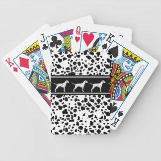 Dalmatisch hondpatroon poker kaarten
