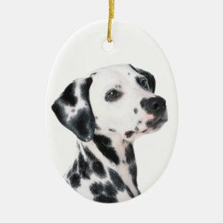 Dalmatische hond mooie foto, gift keramisch ovaal ornament