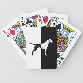 Dalmatische hond pak kaarten