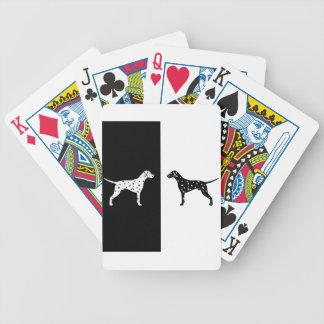 Dalmatische hond poker kaarten
