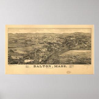 Dalton Massachusetts 1884 Antiek Panoramische Poster