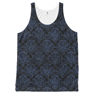 DAMASK1 ZWARTE MARMEREN & ARDUINSTEEN All-Over-Print TANK TOP