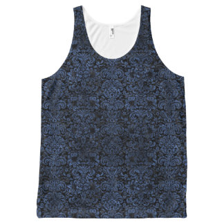 DAMASK2 ZWARTE MARMEREN & ARDUINSTEEN All-Over-Print TANK TOP