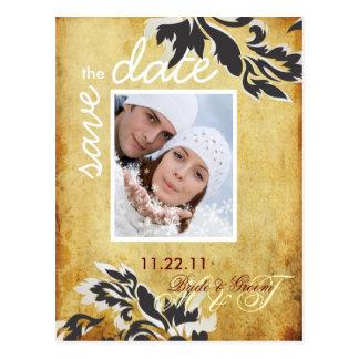 Damast 12 van de Parel van PixDezine Vintage Briefkaart