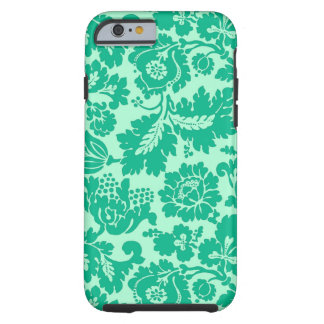 Damast, het Turkoois en Aqua van William Morris Tough iPhone 6 Hoesje