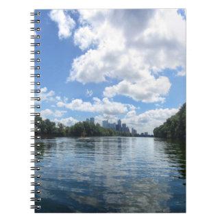 Dame Bird Lake Panorama - Austin - Texas Notitieboek