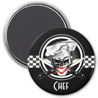 Dame Chef Skull Magneet