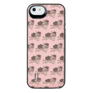 Dame Frenchie gaat voor een gang uit iPhone SE/5/5s Batterij Hoesje