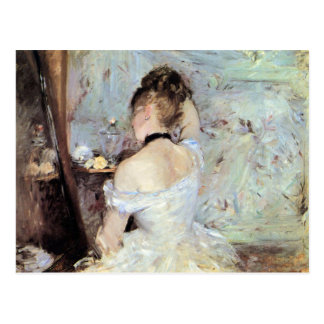 Dame in het Toilet door Berthe Morisot Briefkaart
