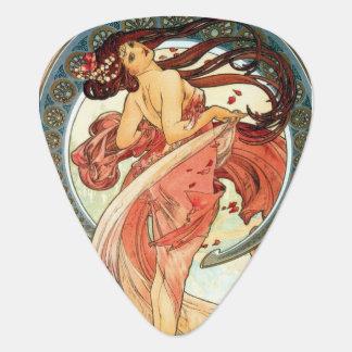 Dame in Rode 2 Mucha gitaaroogst Plectrum