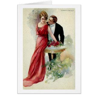 Dame in Rood, Wenskaart