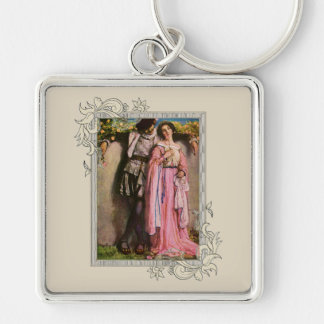 Dame in Roze Kleding met een Heer Sleutelhanger