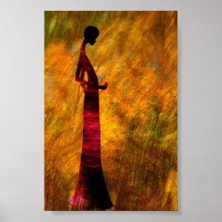Dame in Zwarte Poster